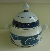 V+B Terrine pottery Lochöffnung BLUE CLOUD Schüssel Porzellan Villeroy Boch 70