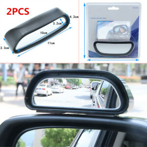2PCS Car SUV Rearview Mirror Blind Spot Side Wide Angle View HD Glass Universal