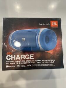 JBL Charge BLUE Stereo Wireless Bluetooth Portable Fun Speaker iPhone 7+/7/6S C
