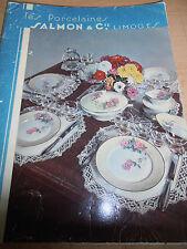 catalogue de porcelaine Limoges SALMON dont planche couleurs ( ref 7 )