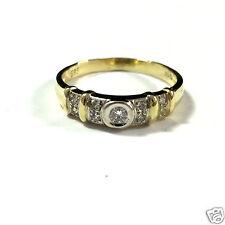 Goldring mit 9 Brillanten Brillantring 585er Gold Gelbgold Ring 0,15 ct Gr. 60