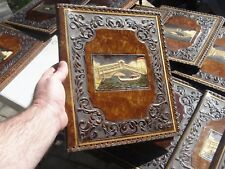 NOTEBOOK cover jacket old Italian sca sheet music holder boat Venice vnt leather