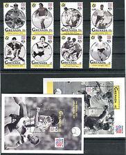 Briefmarken Grenada Fußball WM 1994 USA Nr : 2657 - 2664 + Bl 349 - 350 ** BR221