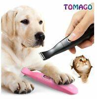 Pet Trimmer Dog Electric Shaver Toes Paw Pads Hair Clipper Eyes Ears (Black)