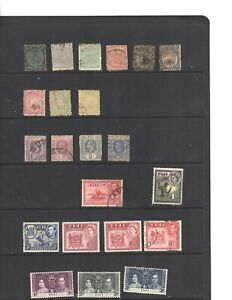 1800 - 1900 Fiji  35 Stamps in MNH, MVLH, Used conditions  (mb20