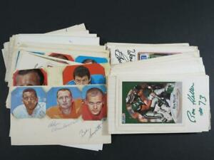 (130+) Football NFL Signed 3 x 5 Index Cards