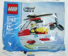 4900 FIRE FIGHTER HELICOPTER promo CITY TOWN lego NEW poly bag legos set