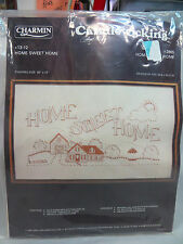 """VINTAGE CHARMIN CANDLEWICKING PILLOW KIT, HOME SWEET HOME, #13-12 20""""X12"""""""
