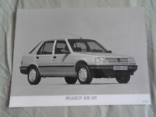 Peugeot 309 GR Press Photo 1991