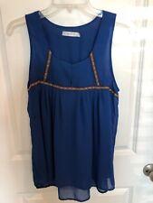 Ladies Sheer On Twelfth Royal Blue Top / Blouse / Shirt Size M