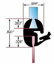 Universal Weatherstrip / 1-PC Windshield Rubber Glass Seal w/Locking Strip