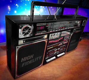 "LASONIC TRC-935 (1985) 💎RARE Vintage💎 Stereo Cassette Boombox ""Ghetto Blaster"""