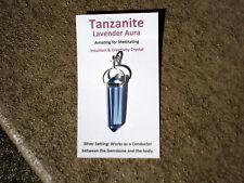 Tanzanite Lavender Aura-Double Terminated Pt.Pendant