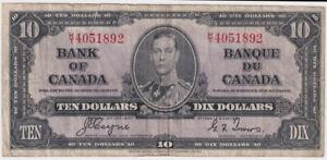 Canada 1937 10 Dollars P# 61c Fine