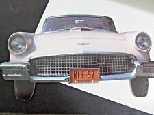 UNUSED GREETING CARD 1957 FORD THUNDERBIRD AND HISTORY ON THE BACK  1984 NY