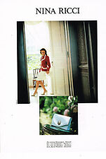 PUBLICITE ADVERTISING 025  1993  NINA RICCI  boutique haute couture sac