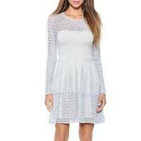 BCBG Max Azria Haze Blue Kyla Long Sleeve Cut Out Dress XS
