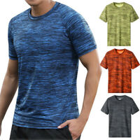 Men Summer Casual Short Sleeve T Shirt Fit Sport Fast-Dry Breathable Top Blouse