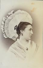 Suisse, Costume Femme du Canton de Schwytz  Vintage albumin print Tirage a