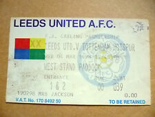 Ticket- 1998 LEEDS UNITED v TOTTENHAM HOTSPUR, 4th March
