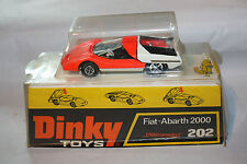 Dinky 202 Fiat Abarth,Excellent with Good Original Raised Plinth Box