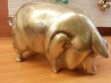Brass Pig Sculpture Statue Lucky Figurine Collectibles Vintage Animal Home Decor