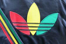 Rasta Trefoil Adidas Chile '62 tracksuit Jacket Black R/G/Y XS Wet look Rare