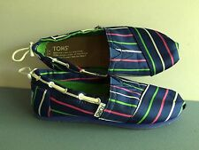 Toms Blue Stripes Bimini - Youth 2 - Great Condition