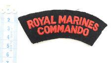 An Original Military Royal Marines Commando Cloth Shoulder Title Badge (4675)