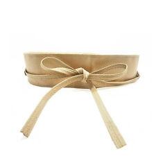 Trendy Women Belt Soft Leather Wide Self Tie Wrap Around Waist Band Dress Belt