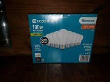 100-Watt Incandescent Light Bulb A19 Equivalent A19 Household Bulbs (8-Pack)