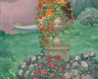 Stoned Vase with Flowers Henri Lebasque Floral Home Decor Print Canvas Small Art