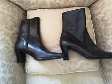LADIES L. K. BENNETT BROWN ANKLE BOOTS SIZE UK 5