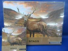 Stag Placemats & Coaster Set - Highland Stag Coaster & Placemat Set - New