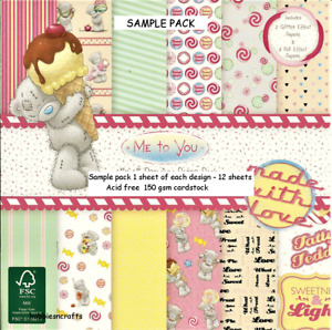 SWEET SHOP Dovecraft Me To You 8 x 8 Sample Paper Pack 150gsm Teddy Bears