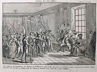 Marie Antoinette et Louis 16 1792 Sans Culotte Gravure Révolution Française
