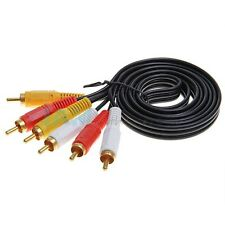 5 FT 3 RCA to RCA MALE COMPOSITE AUDIO VIDEO GOLD CABLE for TV DVD LCD SWITCH