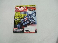 Chevy High Performance Magazine ~ August 2001 ~ Basic Horsepower How-To's