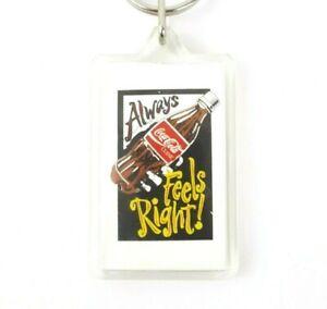 Rare Vintage Lucite Coke Coca-Cola Collectible Advertisement Souvenir Key Chain