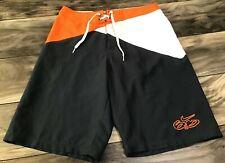 Nike 6.0 Men's Size 27 Board Shorts/Swim Trunks: Gray, White, & Orange