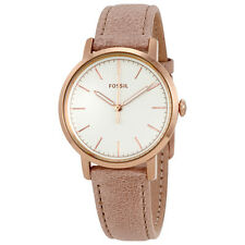 Fossil Neely White Dial Ladies Learher Watch ES4185