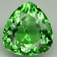 Fascinating!!! 18.5ct. Apple Green Amethyst Pear