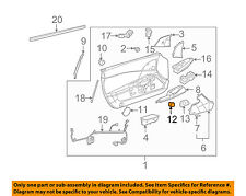 Chevrolet GM OEM 05-13 Corvette Door-Release Switch 10362041