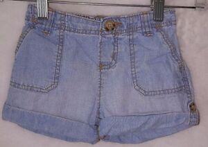 OshKosh B'gosh Girls Blue Jean Shorts Size 4T