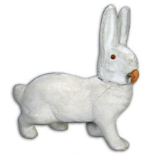 German Composition Rabbit Candy Container with Carrot Nose