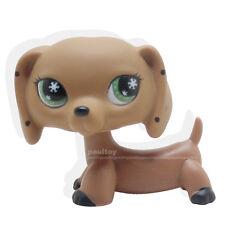 Rare Littlest Pet Shop Monopoly Brown Dachshund Dog Snowflake Eyes Animal LPS