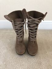 Steve Madden Women's Taupe Wedge Boots Size 7.5