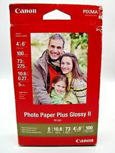 Canon PP-201 Photo Paper Plus Glossy II, 4x6 inch - 100 Sheets