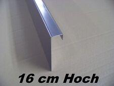 1  Rasenkante Beeteinfassung aus Edelstahl V2A,Kiesleiste 16cm hoch, 1,25 m lang