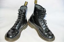 Doc Dr. Martens 8 Eye Black Patent Leather Boots Size 6 US / 4 UK